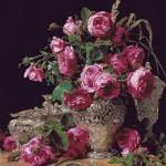Goblen - Trandafiri in vas de argint