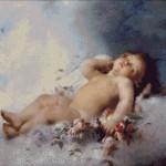 Goblen - Ingerul adormit