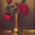 Goblen - Trandafiri in vas japonez