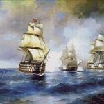 Goblen - Brig-Mercury atacata de doua nave turcesti