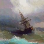 Goblen - Corabie in furtuna