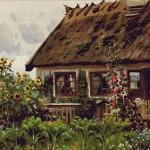 Goblen - La intrarea in casa