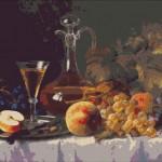 Goblen - Natura moarta cu fructe