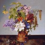 Goblen - Flori de gradina in ulcior