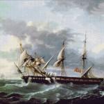 Goblen - Doua nave pe mare