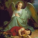 Goblen - Ingerul pazitor vegheaza somnul copilului