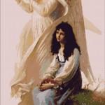 Goblen - Tanara fata cu inger