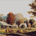 Goblen - Peisaj de toamna