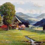 Goblen - Primavara in Padurea Neagra