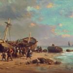 Goblen - Pescari pe plaja