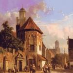 Goblen - Vedere a unei strazi olandeze