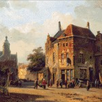 Goblen - Personaje pe o strada olandeza