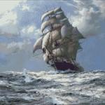 Goblen - Barca cu panze