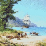 Goblen - Nava Gorgona al lui Henry Morgan in Pacific
