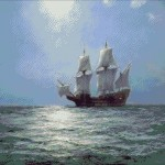 Goblen - Mayflower potolita intr-o noapte senina