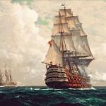 Goblen - Nave pe mare