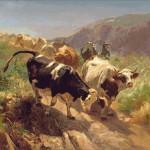 Goblen - Coborand de pe munti
