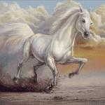 Goblen - Cal alb galopand
