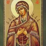 Goblen - Maica Domnului cu sapte sageti