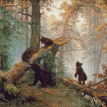 Goblen - Dimineata in padurea de pini