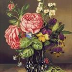 Goblen - Trandafir in vaza