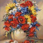 Goblen - Flori de camp inflorite