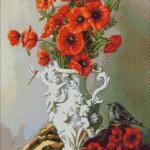 Goblen - Maci rosii cu ingerasi