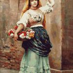 Goblen - Vanzatoarea de flori (2)