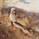 Goblen - Taranca pe iarba