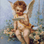 Goblen - Ingeras citind scrisoarea