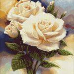 Goblen - Alb delicat de petale