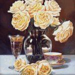 Goblen - Trandafiri aurii