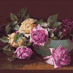 Goblen - Trandafiri în bol