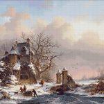 Goblen - Peisaj de iarnă (4)