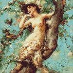 Goblen - Frumoasa in pomul inflorit