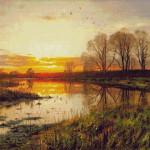 Goblen - Apus de soare
