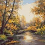 Goblen - Toamna pe lac