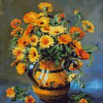 Goblen - Flori în vază de lut (2)