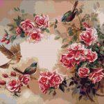 Goblen - Păsări şi trandafiri