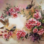 Goblen - Pasari si trandafiri