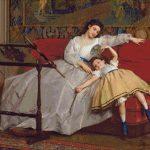 Goblen - Mama cu fiica ei