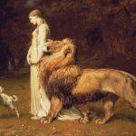 Goblen - Una şi leul