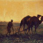 Goblen - Arab arand seara cu plugul