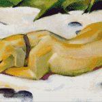 Goblen - Câine culcat pe zăpadă