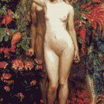 Goblen - Femeia, bărbatul şi şarpele