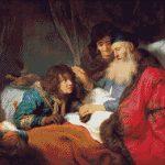 Goblen - Isaac binecuvântând pe Iacob