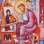 Goblen - Sfantul apostol Luca pictand