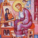 Goblen - Sfântul apostol Luca pictând