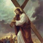 Goblen - Iisus Hristos ducandu-si Crucea