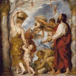 Goblen - Israeliţii adunând mană în deşert